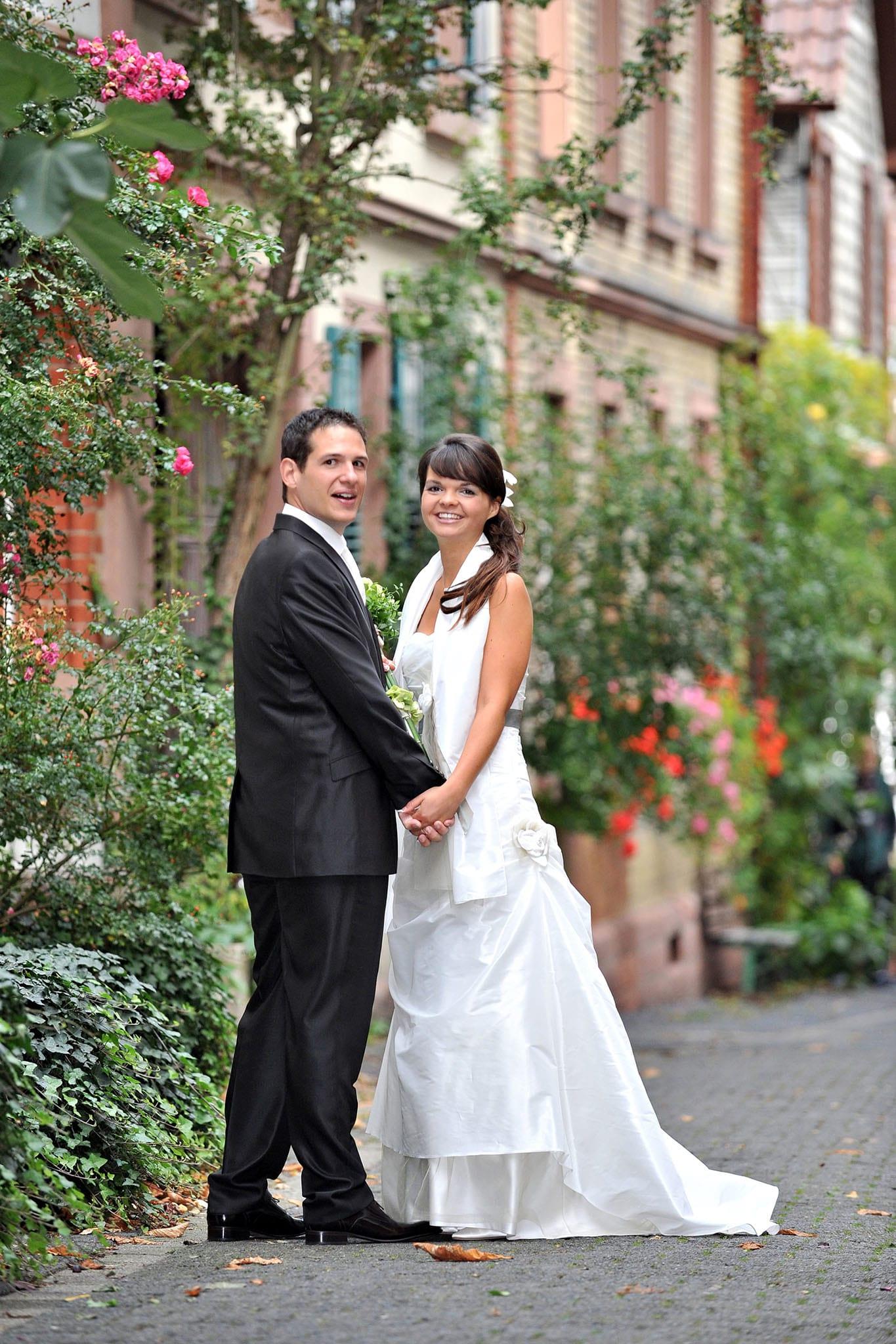 Hochzeit 077 Hochzeit Braut Bräutigam Brautpaar Heppenheim Altstadt Hochzeitsfotografie Daniel Fuss Fotografie
