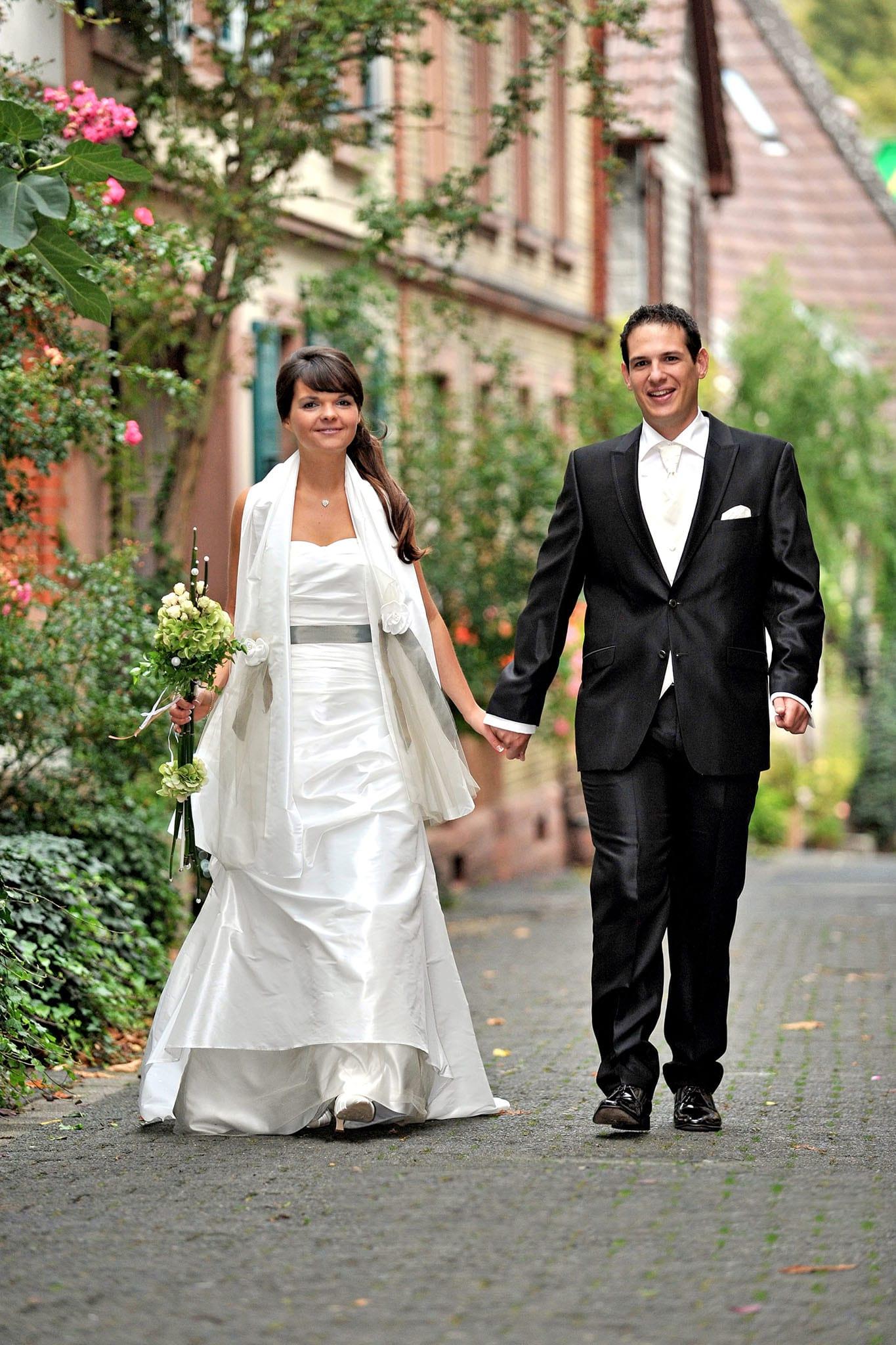 Hochzeit 078 Hochzeit Braut Bräutigam Brautpaar Heppenheim Altstadt Hochzeitsfotografie Daniel Fuss Fotografie