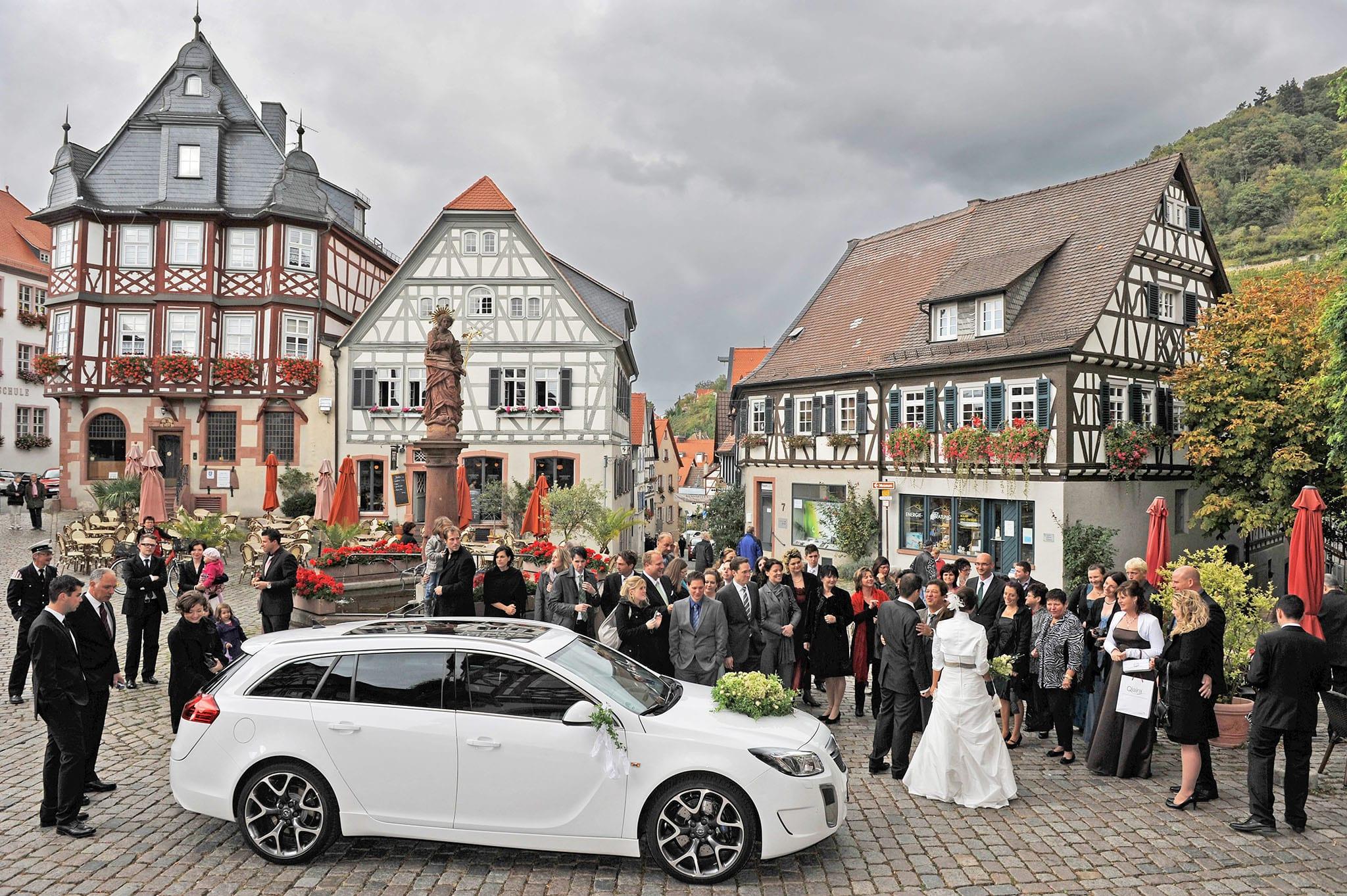 Hochzeit 079 Hochzeit Braut Bräutigam Brautpaar Heppenheim Altstadt Hochzeitsfotografie Daniel Fuss Fotografie